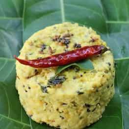 Ambe dal (chana dal-raw mango side dish/snack/salad)