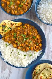 Chickpea Spinach Shaak