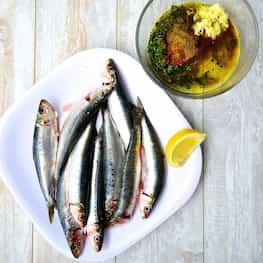 Moroccan Sardines With Charmoula